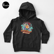 Bearded Dragon Deluxe Pomade Toddler Pullover Hoodie with Japanese Cartoon in black