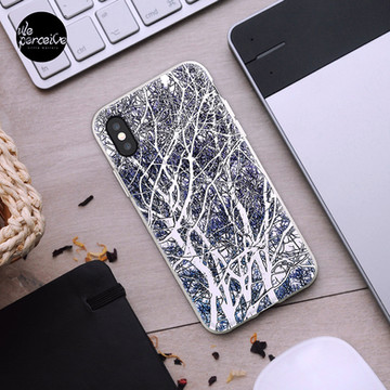 Violet forest iPhone Case & Cover