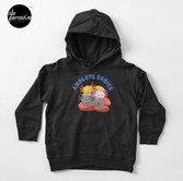 AXOLOTL WAVE Style 2 - We are the CUTEST CREATURE in the Water World Toddler Pullover Hoodie in Black