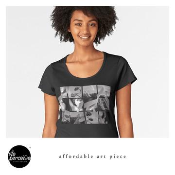 Collage art piece tshirt