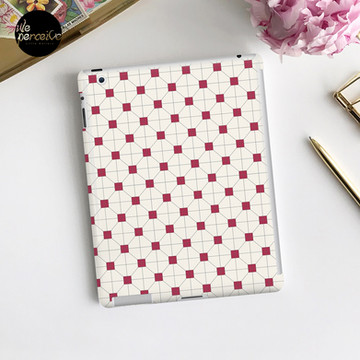 Hong Kong restaurant style - red and white VINTAGE floor tile iPad Case & Skin