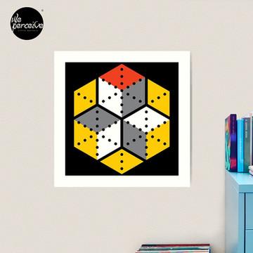 Geometric Cubes Art Print