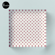 Hong Kong restaurant style - red and white VINTAGE floor tile Acrylic Block