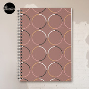 Minimal Circle Pattern in Mocha Spiral Notebook
