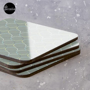 Minimal Circle Pattern in Charcoal Coasters (Set of 4)