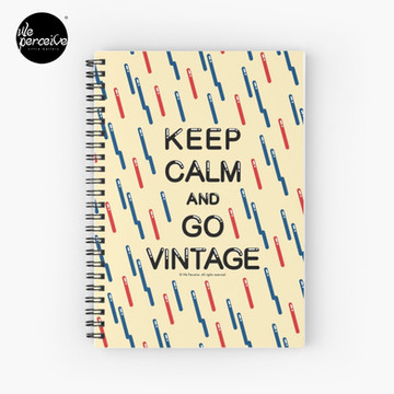 KEEP CALM AND GO VINTAGE Spiral Notebook