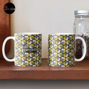 Geometric Cubes Pattern Mug