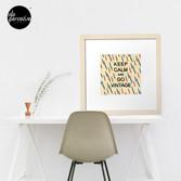 KEEP CALM AND GO VINTAGE Framed Art Print