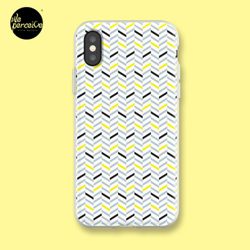 Geometric pattern - simple, black, grey, yellow iPhone Case & Cover