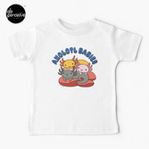 AXOLOTL WAVE Style 2 - We are the CUTEST CREATURE in the Water World Kids T-Shirt in White