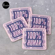100% HUMAN - Distortion of Humanity Coasters (Set of 4)