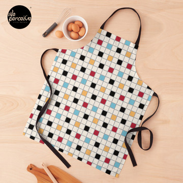 We LOVE the 80s - VINTAGE grid pattern Apron