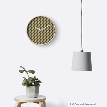 Geometric pattern designed wall clock