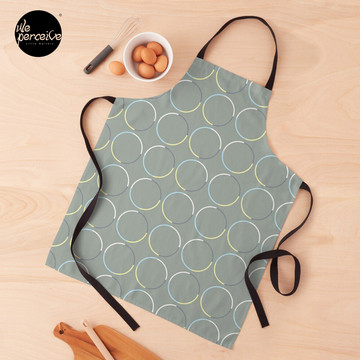 Minimal Circle Pattern in Charcoal Apron