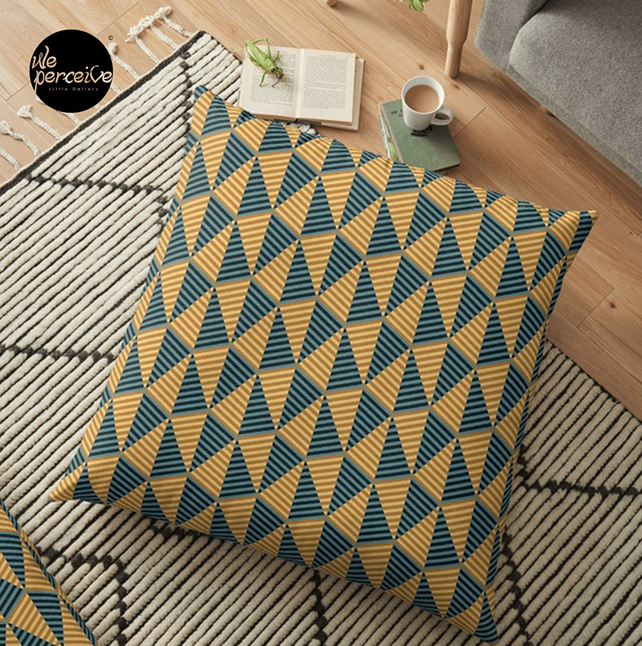 Egypt day and night pattern floor pillow