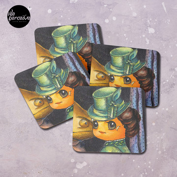 Movie inspired collection - Dracuzard - Mina Harker Coasters (Set of 4)
