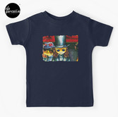 Movie inspired collection - Dracuzard - Count Dracula Baby T-Shirt in dark blue