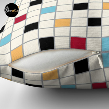 We LOVE the 80s - VINTAGE grid pattern Throw Pillow