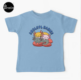 AXOLOTL WAVE Style 2 - We are the CUTEST CREATURE in the Water World Kids T-Shirt in Blue