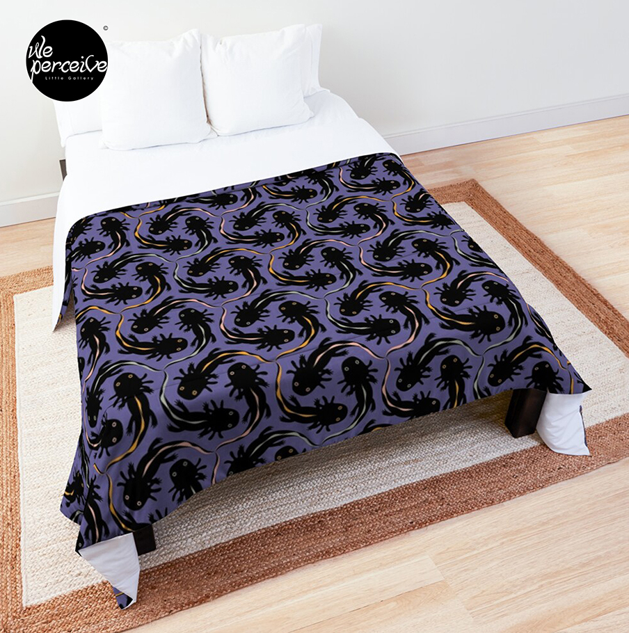 4 seasons axolotl comforter folding top view