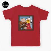 Bearded Dragon Illustration with Wolfgang Amadeus Mozart Cosplay Kids T-Shirt