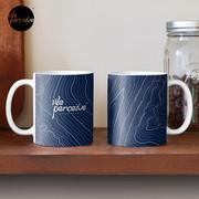 Psychology things - Maslow's HIERARCHY of NEEDS - Dark Blue Mug