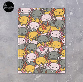 AXOLOTL WAVE Style 2 - We are the CUTEST CREATURE in the Water World Hardcover Journal