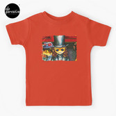 Movie inspired collection - Dracuzard - Count Dracula Baby T-Shirt in orange