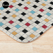 We LOVE the 80s - VINTAGE grid pattern Bath Mat