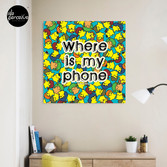 Welcome to SOCIAL MEDIA ERA - Where is my PHONE? Canvas Print
