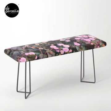 Pink Flowers Bench