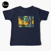 Movie inspired collection - Dracuzard - Mina Harker Baby T-Shirt in Dark Blue