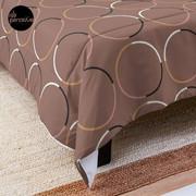 Minimal Circle Pattern in Mocha Comforter
