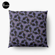 WE LOVE M.C. ESCHER style - Axolotl symmetrical pattern Throw Pillow