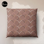 Minimal Circle Pattern in Mocha Floor Pillow
