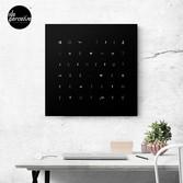 Create the future canvas print in black
