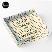 KEEP CALM AND GO VINTAGE Acrylic Block