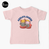 AXOLOTL WAVE Style 2 - We are the CUTEST CREATURE in the Water World Kids T-Shirt in Pink