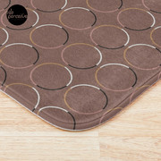 Minimal Circle Pattern in Mocha Bath Mat