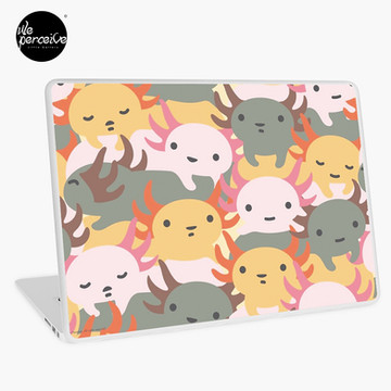 AXOLOTL WAVE - We are the CUTEST CREATURE in the Water World Laptop Skin