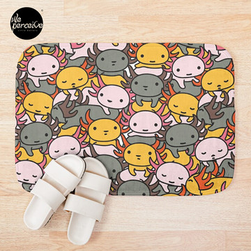 AXOLOTL WAVE Style 2 - We are the CUTEST CREATURE in the Water World Bath Mat