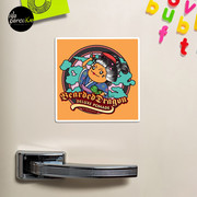 Japanese Traditional Style Bearded Dragon Deluxe Pomade Comic Magnet