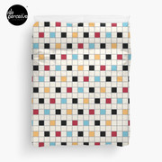 We LOVE the 80s - VINTAGE grid pattern Duvet Cover