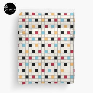 We LOVE the 80s - VINTAGE grid pattern Duvet Cover