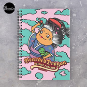 Japanese Style Bearded Dragon Deluxe Pomade Illustration Spiral Notebook