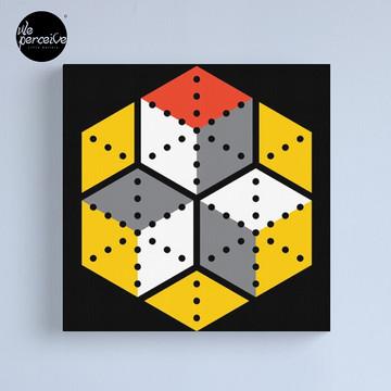 Geometric Cubes Canvas Print