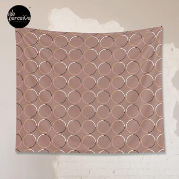 Minimal Circle Pattern in Mocha Tapestry