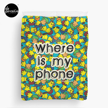 Welcome to SOCIAL MEDIA ERA - Where is my PHONE? Duvet Cover Queen size