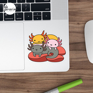 AXOLOTL WAVE Style 2 - We are the CUTEST CREATURE in the Water World Sticker