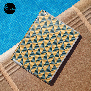 Egypt day and night geometric pattern iPad case